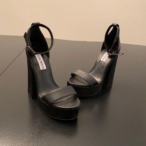Steve Madden Black Sandal Heels